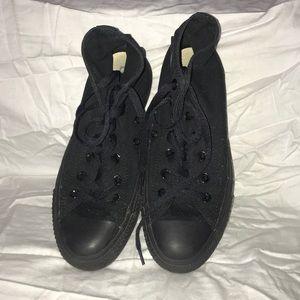All black High top converse